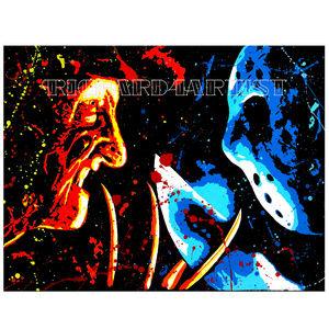 NWT Freddie vs Jason Art PRINT Horror Movie Decor